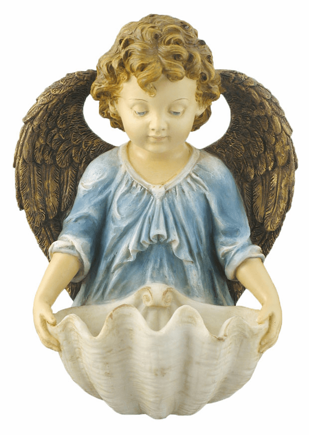 Veronese Hand Painted Angel Holy Water Font