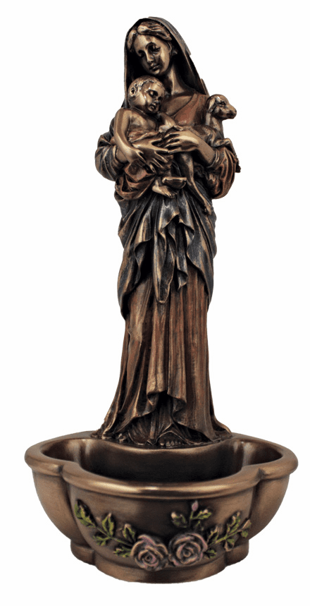 Veronese l'Innocence Cold-Cast Bronze Holy Water Font or Rosary Holder or Rosary Holder