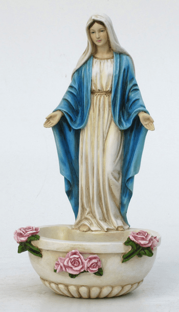 Veronese Our Lady of Grace Rosary Holder or Water Font