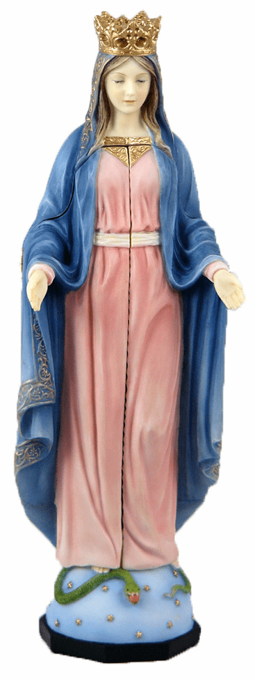 Veronese Our Lady of Sorrows Triptych Handpaint Figure Statue