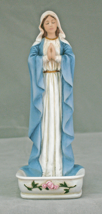 Veronese Praying Mary Water Font or Rosary Holder