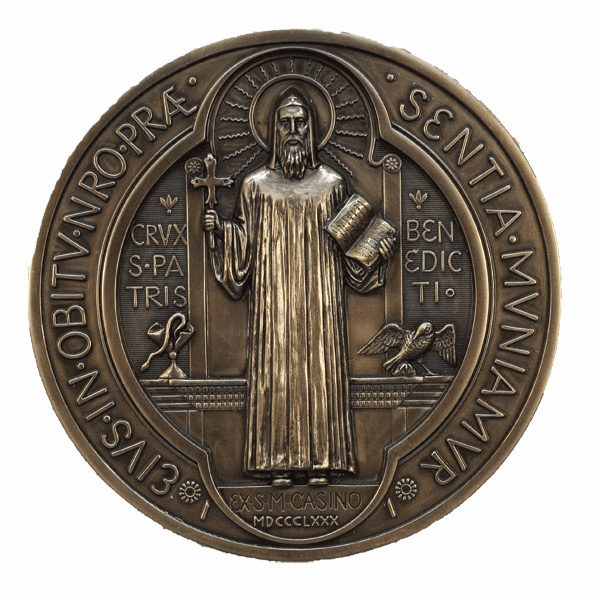 Veronese Saint Benedict Medal Cold Cast Bronze Wall Plaque