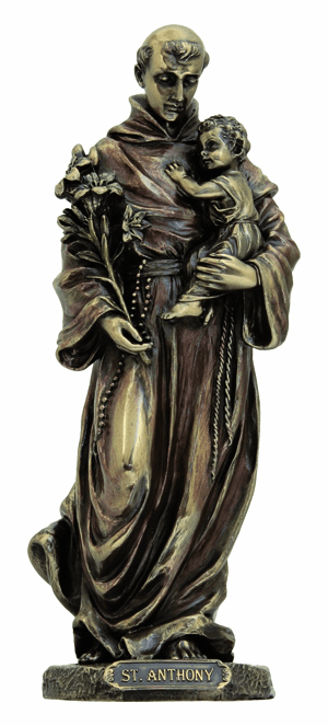Veronese St Anthony and Child Jesus Cold Cast Bronze Statue