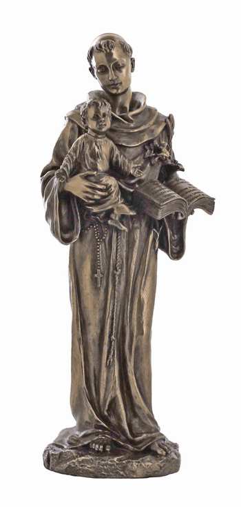 Veronese St Anthony Child Jesus Bronze Statue