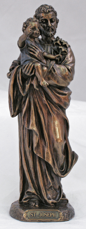 Veronese St Joseph and Child Jesus Cold Cast Bronze Statue
