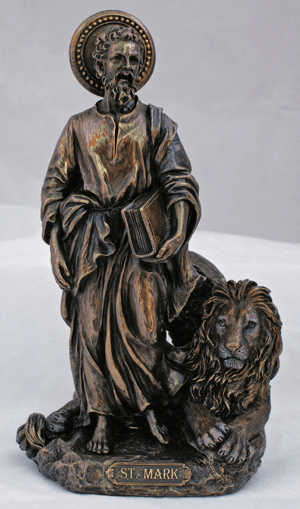 Veronese St Mark the Evangelist with Lion Cold Cast Bronze Statue