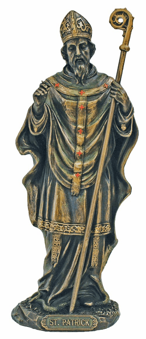 Veronese St Patrick Detailed Hand-Painted Bronze Statue