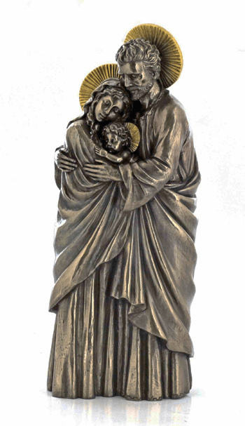 Veronese Standing Holy Family Cold-Cast Bronze Statue