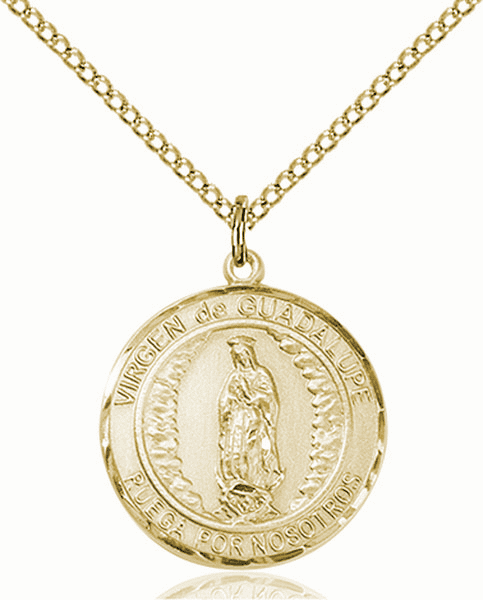 Virgen de Guadalupe/Our Lady of Guadalupe Spanish Patron Saint 14kt Gold-filled Medal by Bliss