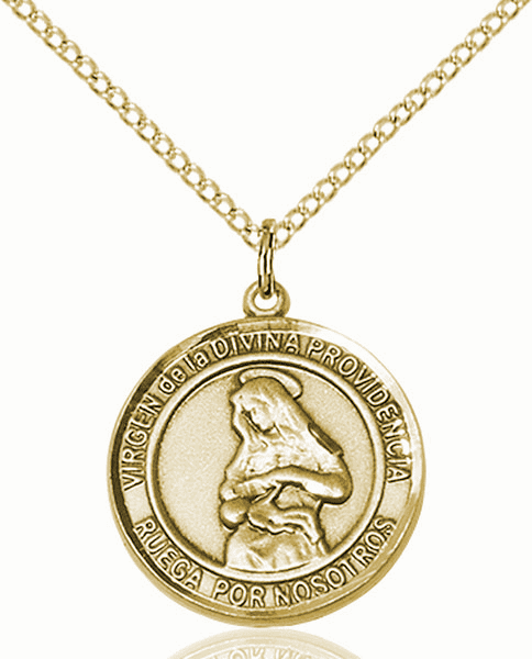 Virgen de la Providencia/Our Lady of Providence Spanish Patron Saint 14kt Gold-filled Medal by Bliss