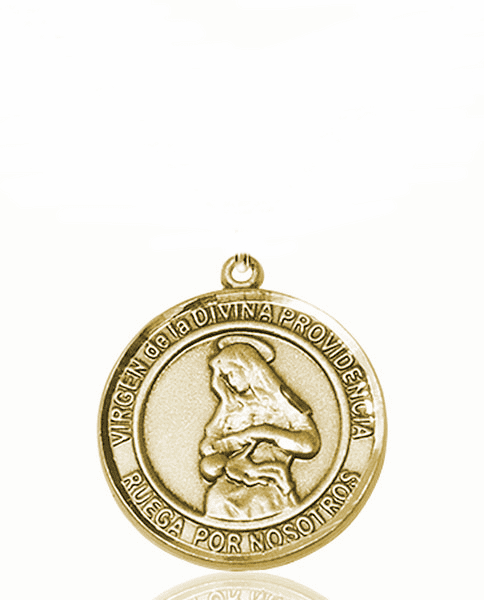Virgen de la Providencia/Our Lady of Providence Spanish Patron Saint 14kt Gold Medal by Bliss