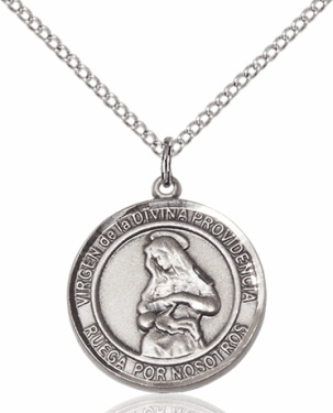 Virgen de la Providencia/Our Lady of Providence Spanish Silver-filled Medal Necklace by Bliss Manufacturing