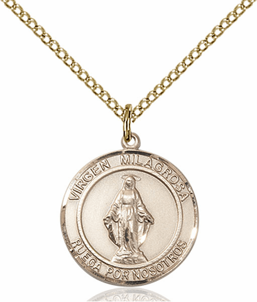 Virgen Milagrosa/Our Lady of Miraculous Spanish Patron Saint 14kt Gold-filled Medal by Bliss