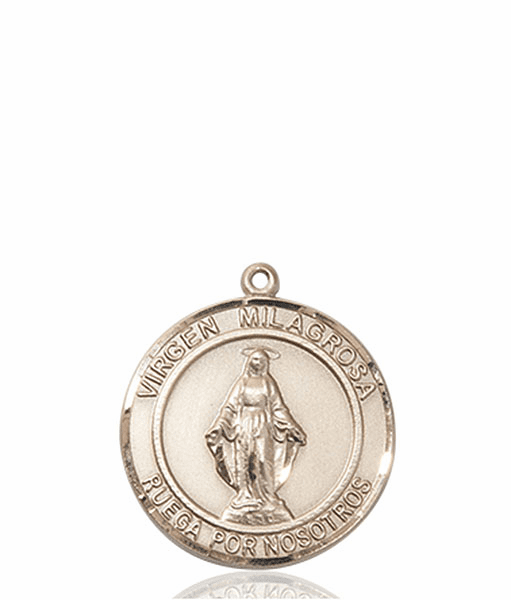 Virgen Milagrosa/Our Lady of Miraculous Spanish Patron Saint 14kt Gold Medal by Bliss