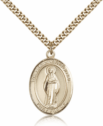 Virgin of the Globe 14kt Gold Filled Patron Medal Necklace by Bliss