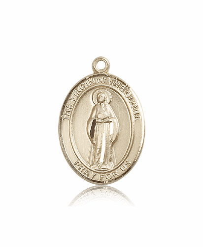 Virgin of the Globe 14kt Gold Patron Medal Pendant by Bliss