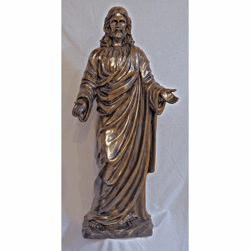 Welcoming Christ in Cold-Cast Hand-Painted Garden Statue