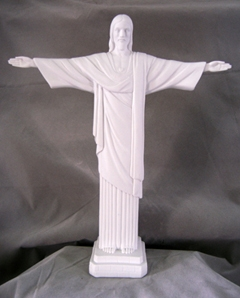 White Resin Christ the Redeemer Religious Figurine by Veronese Collection