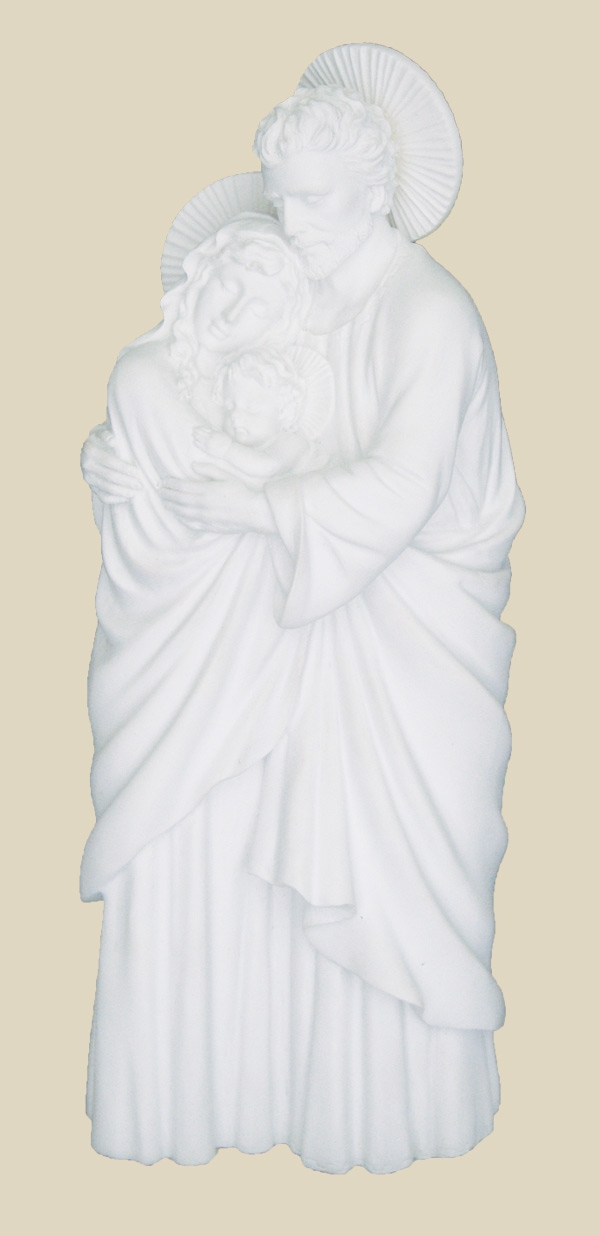 White Resin Holy Family Religious Statue by Veronese Collection