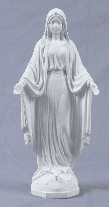 White Resin Our Lady of Grace Religious Figurine by Veronese Collection