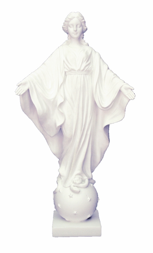 White Resin Our Lady of Smiles Religious Figurine by Veronese Collection