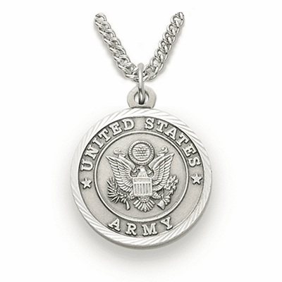 Women's St Michael US Army Sterling Medal Necklace by Singer