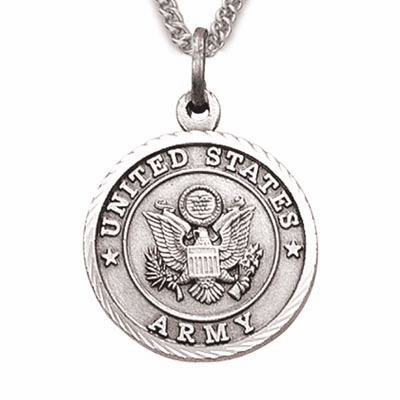 Women's US  Army Medal Christian Cross Necklace by Singer