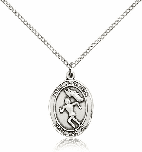 Women St. Sebastian Track & Field Necklace by Bliss