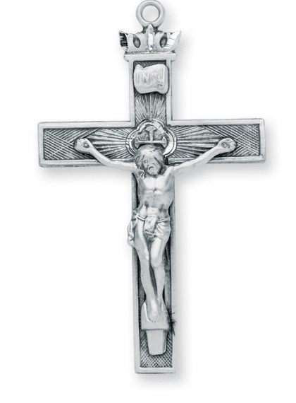 Woven Cross w/Crown Sterling Silver Crucifix Rosary Part by HMH Religious