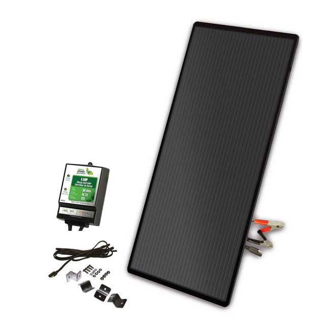 22 Watt Amorphous Solar Panel Charging Kit with 8 Amp Charge Controller