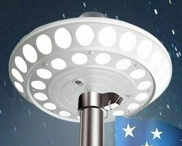 40 LED Double Row Solar Flagpole Top Light