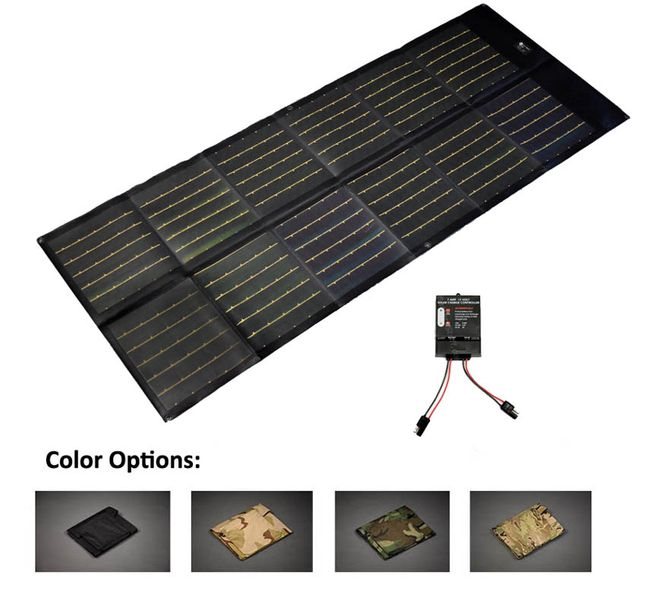 75 Watt Portable 12V Solar Charger with 7 Amp Charge Controller - Military Grade