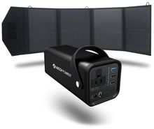 ACO Power 154Wh Portable Solar Generator Kit with 50 Watt Solar Panel