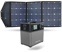 ACO Power 400 Wh Portable Solar Generator Kit with 105 Watt Solar Panel