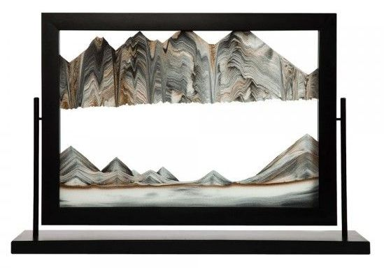 Black Beauty Sand Art by Klaus Bosch - 32 x 22 Inches