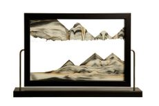 Black Landscape Sand Art by Klaus Bosch -  15-1/2 x 9-3/4 Inches