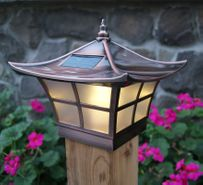 Classy Caps Ambience Solar Copper Post Cap Light