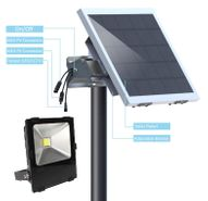 Commercial Solar Flood Light with 50 Watt Solar Panel - 6000 Lumen