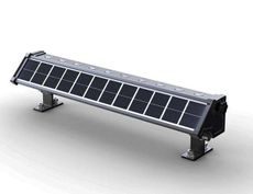 Commercial Solar Wall Washer Light - 400 Lumens