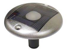 Dock Edge Aluminum Flush-Mount Solar Accent Light for Nautical Docks & Decks