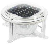 Dock Edge Solar Piling Dome Light - Fresh and Salt Water Rated