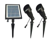 Dual Head Solar Spot Light - Bright White