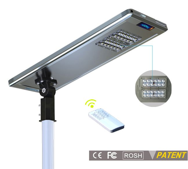 Earthtech Products 30 Watt LED Ultra High Powered Solar Street Light - 4800 Lumens