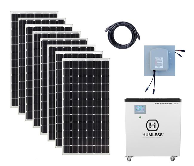 Earthtech Products 6.5 kWh Solar Generator Kit with 2,640 Watts of Solar for Homes and Off-Grid