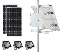 Earthtech Products Commercial Solar Flag Pole Lighting Kit for Flagpoles Up to 40 Feet - 3 Lights (7200 Total Lumens)