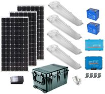 Earthtech Products Solar Power & Lighting Kit for Sheds, Garages & Remote Cabins - 580 Amps