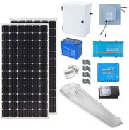 Earthtech Products Solar Power & Lighting Kit for Sheds, Garages & Remote Cabins - 84 Amps