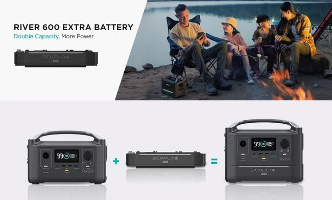 EcoFlow River Max Portable Power Station and Expansion Battery Bundle