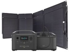 EcoFlow River Pro Portable Solar Generator Kit with Extra Battery - Includes 2x 110 Watt Solar Panels