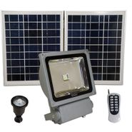 FL9W LED Solar Flood Light with Remote Control, SMD LED, Lithium Ion Battery and PIR Motion Features